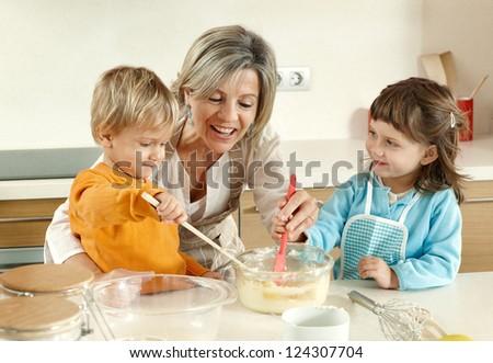 Homemade baking - stock photo