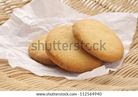 homemade  biscuits isolated on  background - stock photo