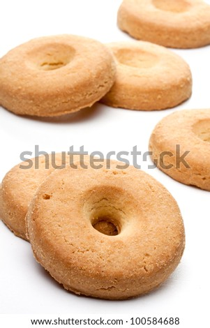homemade biscuits with eggs and cream - stock photo