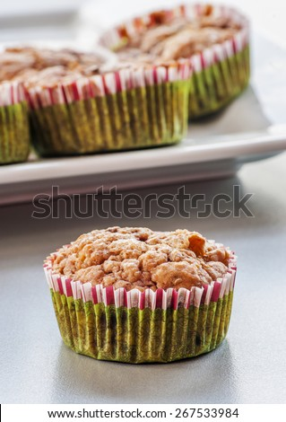 Homemade Blueberry Muffin for Christmas - stock photo
