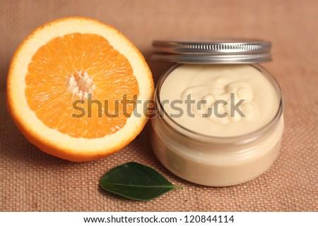 Homemade body butter - stock photo