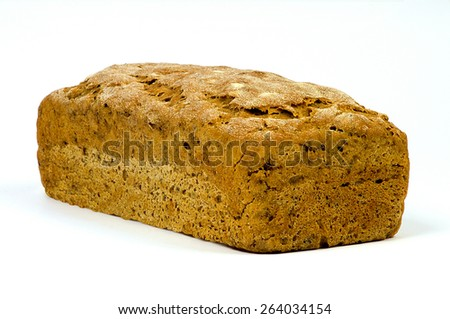 Homemade bread isolated on a white background - stock photo