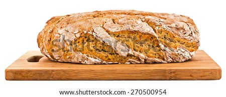 homemade bread, some pictures gathered together - stock photo