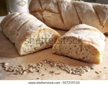 Homemade bread with organic ingredients.