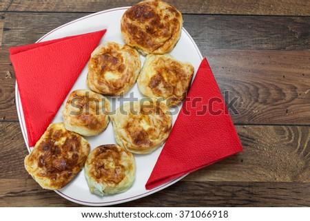 Homemade Cheese Pie - stock photo
