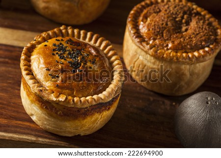 Homemade Chicken Pot Pie Ready to Eat - stock photo