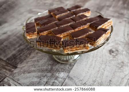 Homemade chocolate cake - stock photo