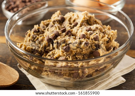 Homemade Chocolate Chip Cookie Dough Ready to Bake - stock photo