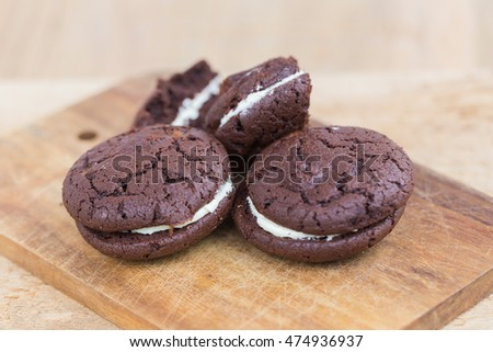 Homemade Chocolate cookie and cream.