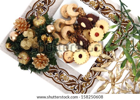 homemade christmas cookies from the czech republic - stock photo