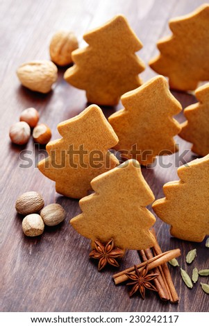 homemade christmas gingerbread cookies - sweet food