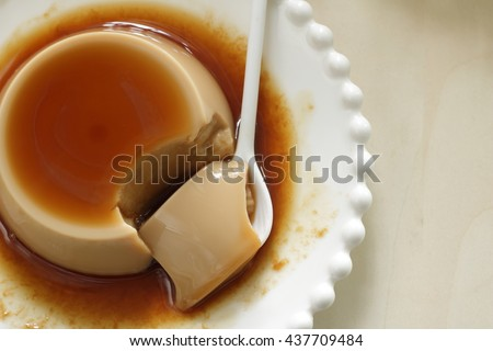 Homemade coffee pudding - stock photo