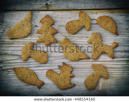 homemade cookies in the shape of an animals