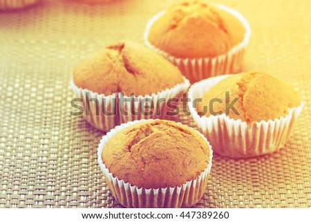 Homemade cup cake with color filters - stock photo