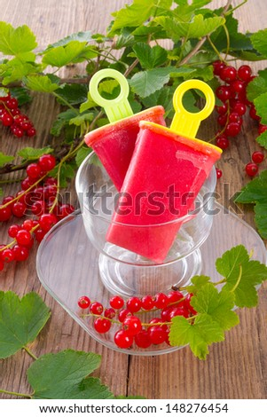Homemade currant water ice  - stock photo