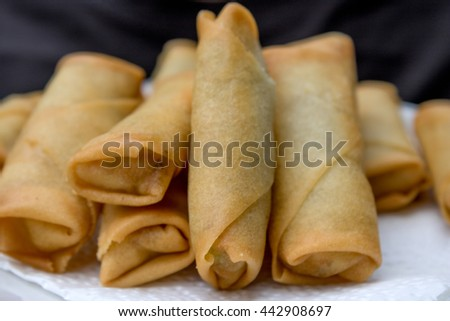 homemade deep fried spring rolls