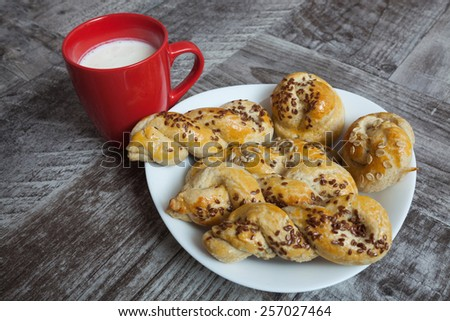 Homemade dinner rolls - stock photo
