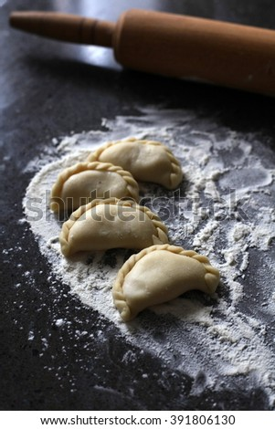 Homemade dumplings - stock photo
