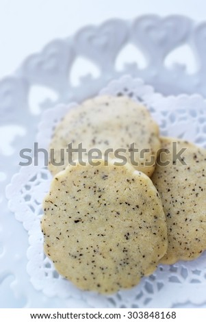 homemade earl grey cookie - stock photo