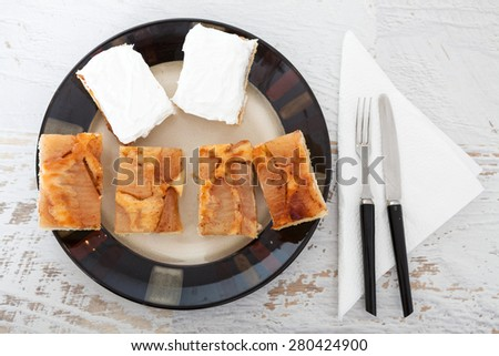 Homemade Fresh Apple Pie - stock photo