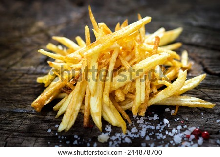 Homemade fries   - stock photo