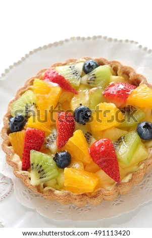 Homemade fruit tart