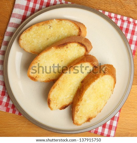Homemade garlic bread - stock photo