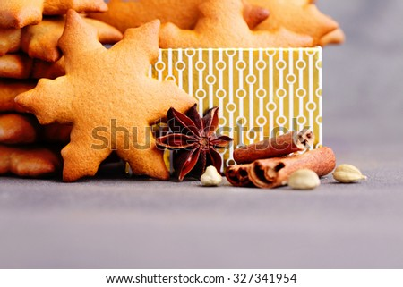 homemade gingerbread stars - sweet food