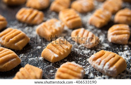 Homemade Gluten Free Sweet Potato Gnocchi - stock photo