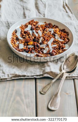 Homemade granola  - stock photo