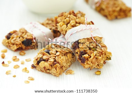 Homemade Granola Bars - stock photo