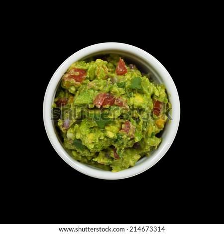 Homemade Guacamole dip. Selective focus. - stock photo