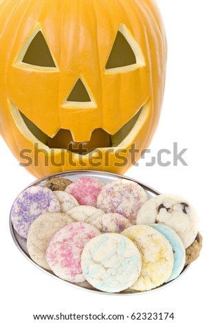 homemade Halloween allergen free cookies - stock photo