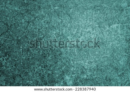Homemade hand crafted print malachite textured paper background. Grunge shabby style. Useful for scrapbooking and greeting cards.  - stock photo