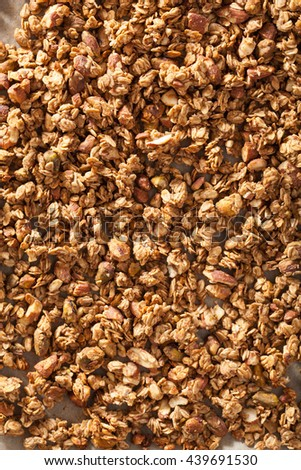 homemade healthy granola background