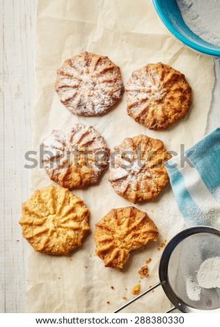Homemade healthy oatmeal cookies - stock photo