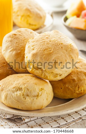 Homemade Hot Buttermilk Biscuits to eat at Breakfast - stock photo