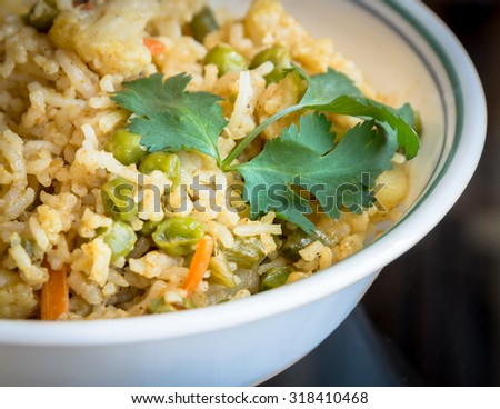 Homemade Indian Pulav, a healthy Indian Food
