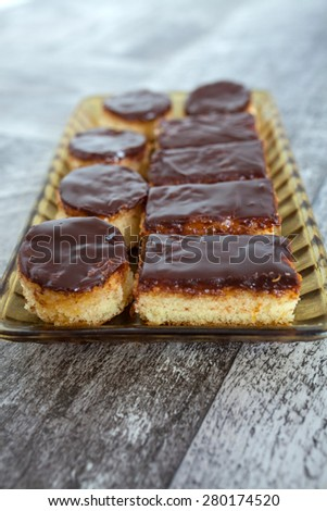 Homemade Jaffa Cake - stock photo