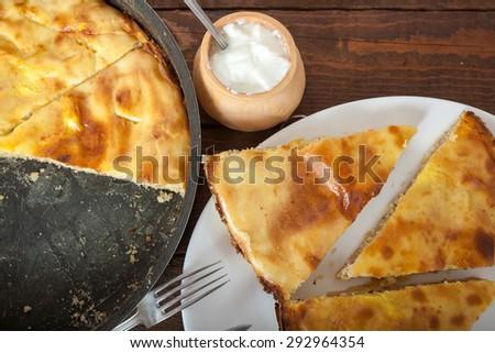 Homemade Meat Pie - stock photo