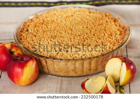 Homemade organic apple pie - stock photo