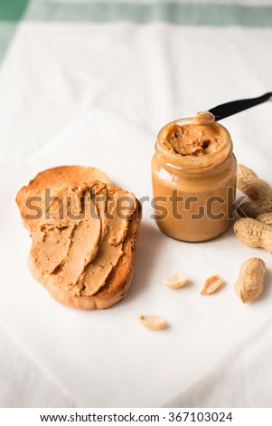 Homemade Peanut Butter with Sandwich