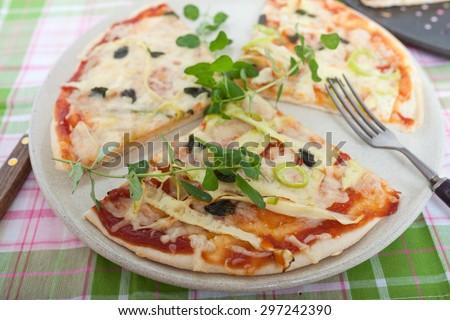 Homemade Pizza - stock photo