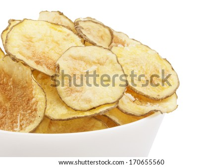 Homemade Potato chips  - stock photo