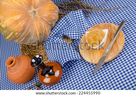 Homemade pumpkin sweet  used as a filling for pastry - stock photo