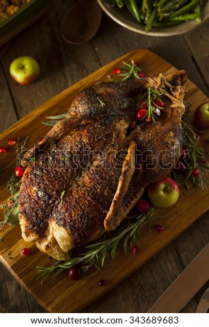 Homemade Roasted Duck with Herbs for the Holidays