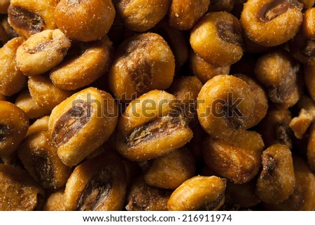 Homemade Salty Corn Nuts in a Bowl - stock photo