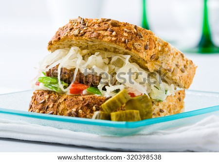 """corned Beef Sandwich"""" Stock Photos, Royalty-Free Images & Vectors ..."""