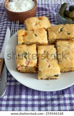 Homemade Spanish Pie - stock photo