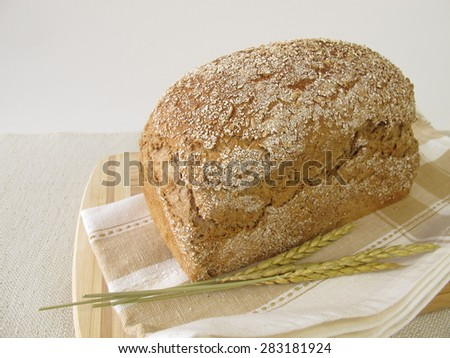 Homemade spelt bread - stock photo